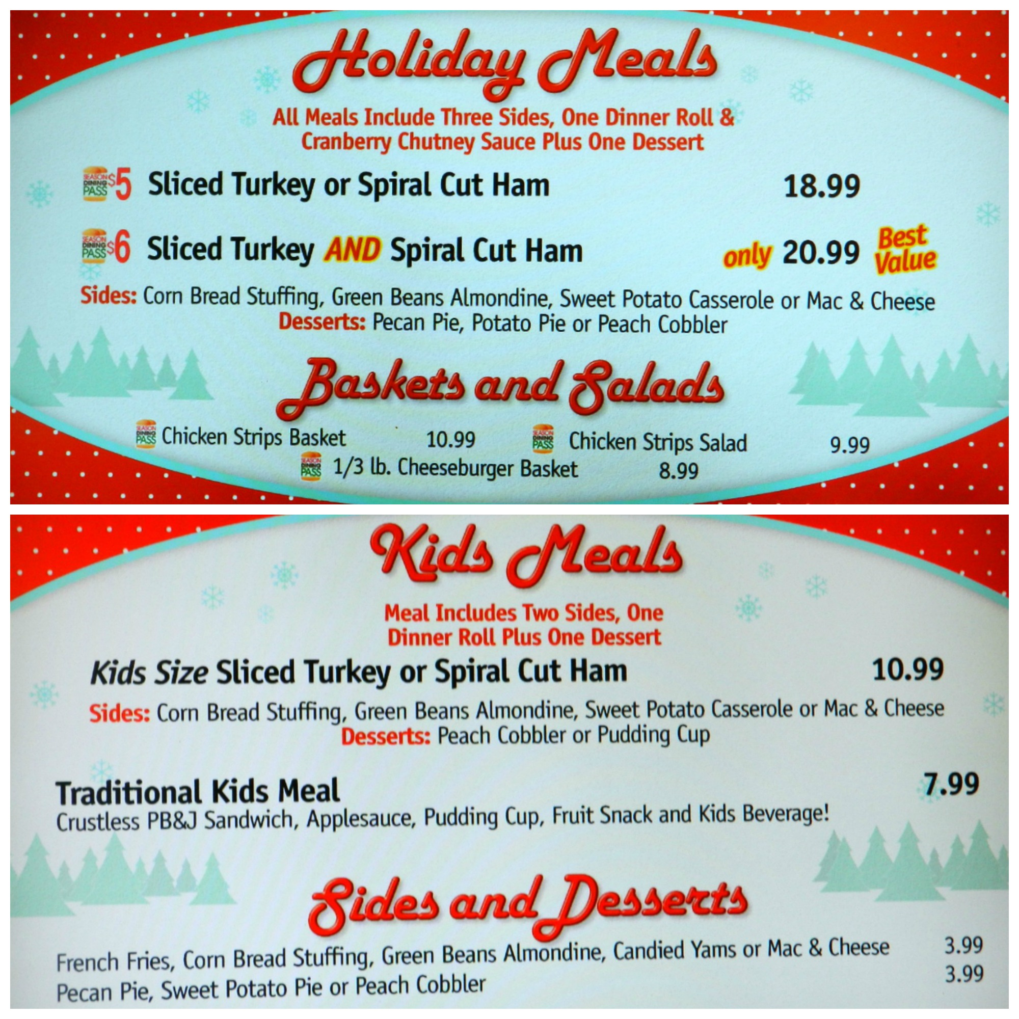 Six Flags Over Georgia Food Menu Prices