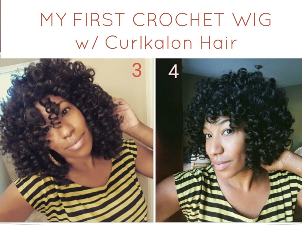 Video 2 Versions Of My First Crochet Wig W Curlkalon Hair