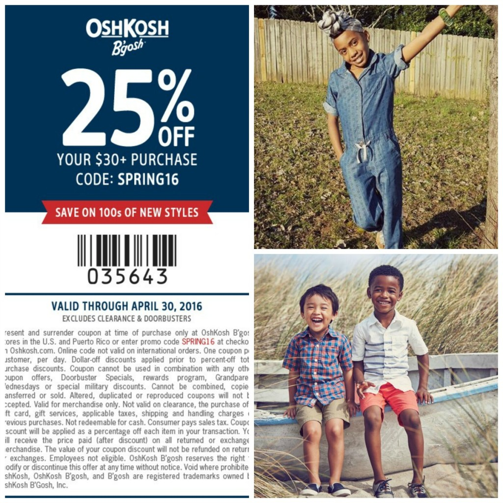 Coupon oshkosh