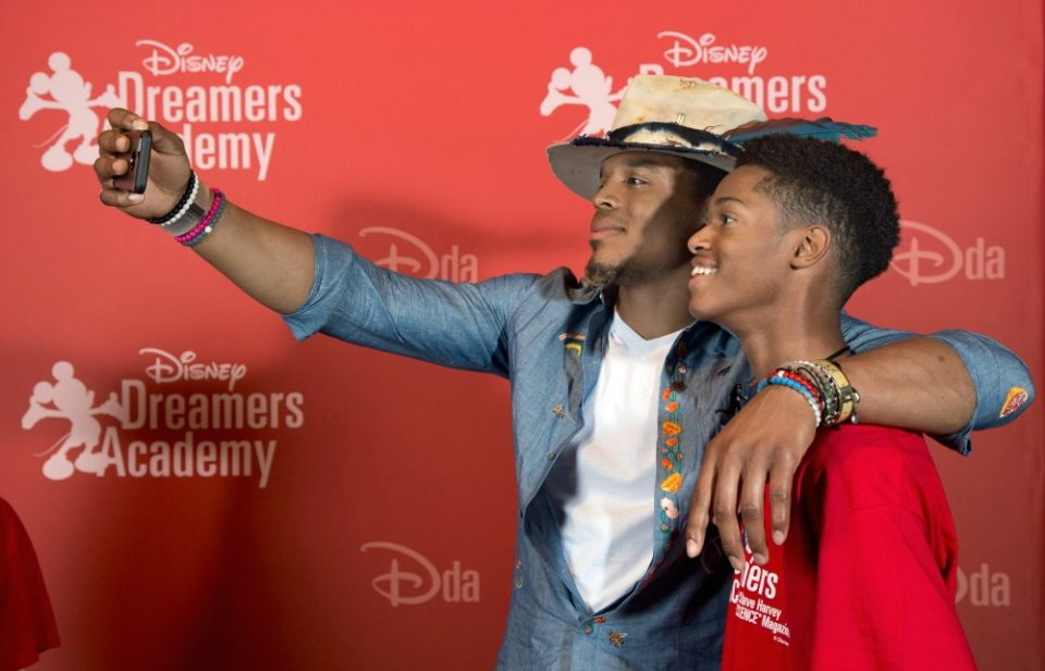 cam newton_disney dreamers