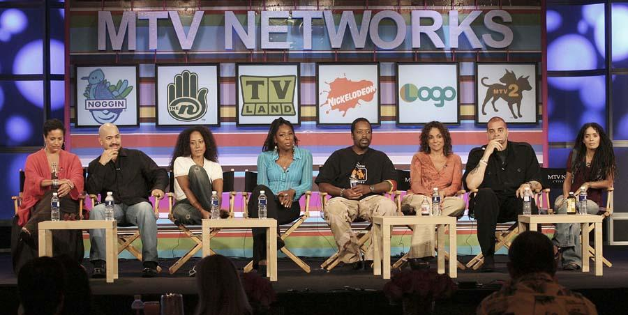 "PASADENA, CA - JULY 13: The cast of the television show ""A Different World"" speaks during the 2006 Summer Television Critics Association Press Tour for the Nick at Nite Network at the Ritz- Carlton Huntington Hotel on July 13, 2006 in Pasadena, California. (Photo Frederick M. Brown / Getty Images)."