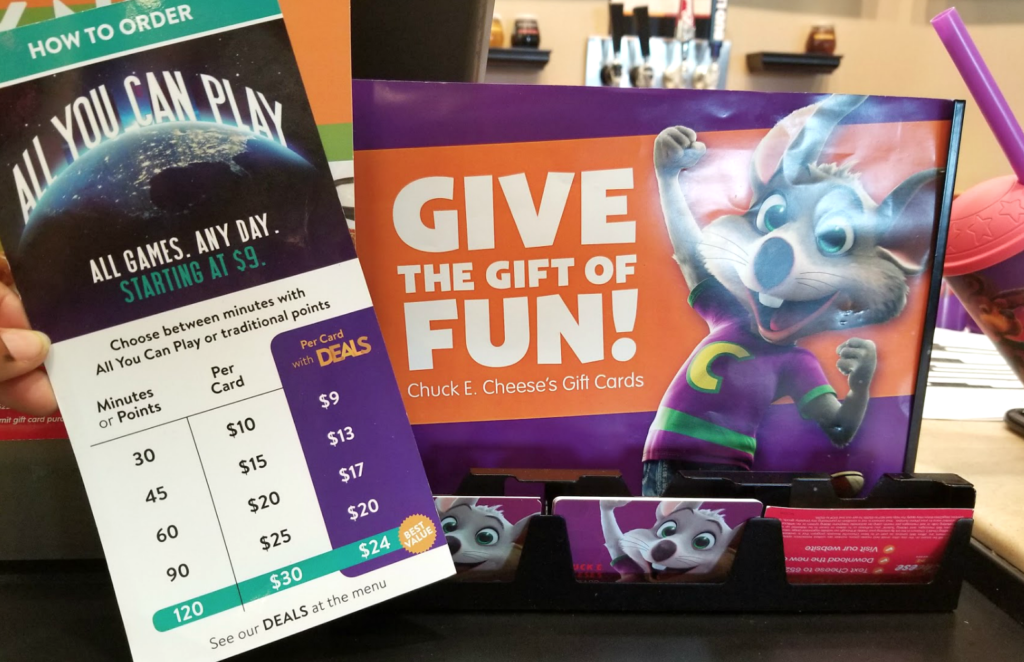 all you can play chuck e. cheese 1