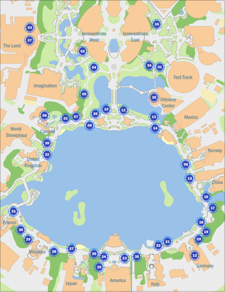 epcot food and wine map